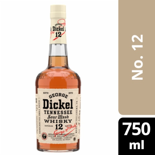 George Dickel No. 12 Tennessee Sour Mash Whisky Perspective: front