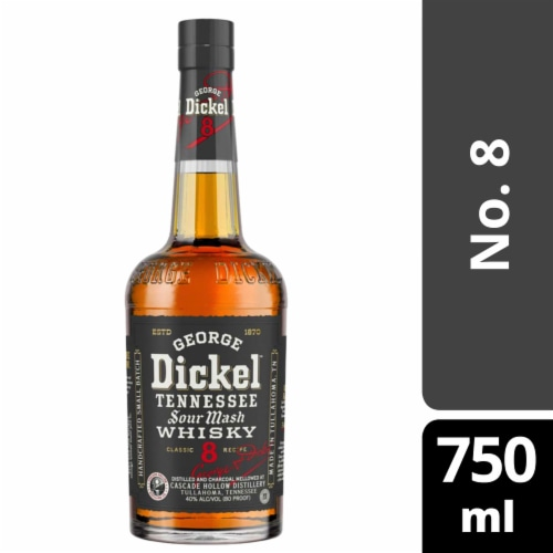 George Dickel No. 8 Tennessee Sour Mash Whiskey Perspective: front