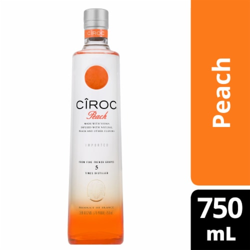 CIROC Natural Flavor Infused Peach Vodka Perspective: front