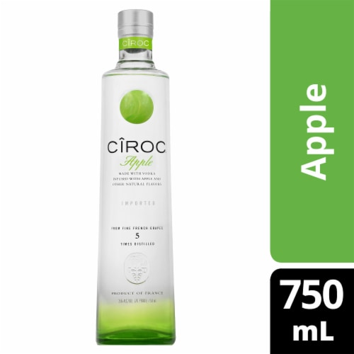 CIROC Natural Flavor Infused Apple Vodka Perspective: front