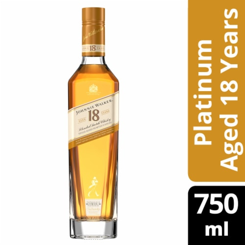 Johnnie Walker Aged 18 Years Blended Scotch Whisky Perspective: front