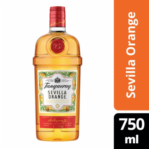 Tanqueray Sevilla Orange Distilled Gin Perspective: front