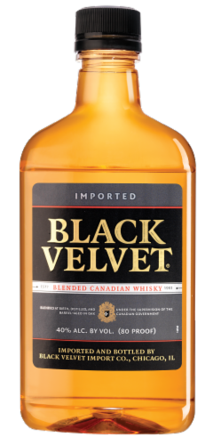 Black Velvet Blended Canadian Whisky Perspective: front