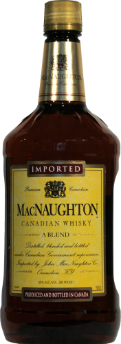MacNaughton Blended Canadian Whiskey Perspective: front
