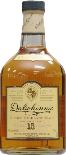 Dalwhinnie 15 Year Highland Single Malt Scotch Whisky Perspective: front