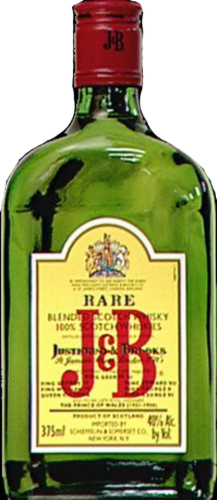 J&B Rare Blended Scotch Whisky Perspective: front
