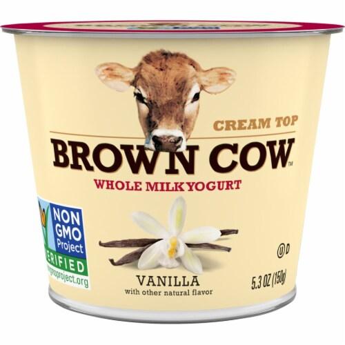 Brown Cow Cream Top Vanilla Whole Milk Yogurt Perspective: front