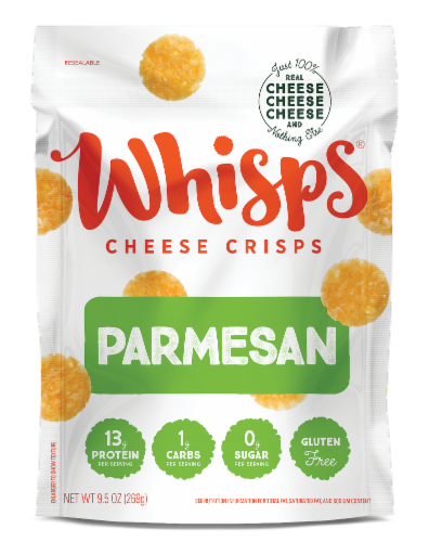Whisps Parmesan Cheese Crisps Perspective: front