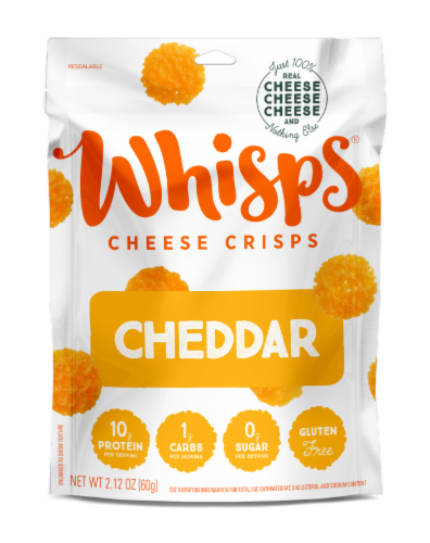 Whisps Cheddar Cheese Crisps Perspective: front