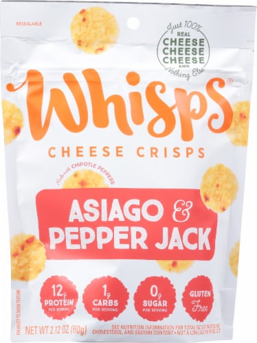 Whisps Asiago & Pepper Jack Cheese Crisps Perspective: front