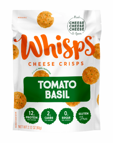 Whisps Cheese Crisps - Tomato Basil Perspective: front