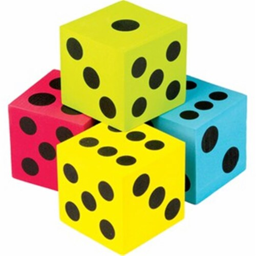 Teacher Created Resources TCR20810 Foam Colorful Jumbo Dice - Pack of 4 Perspective: front