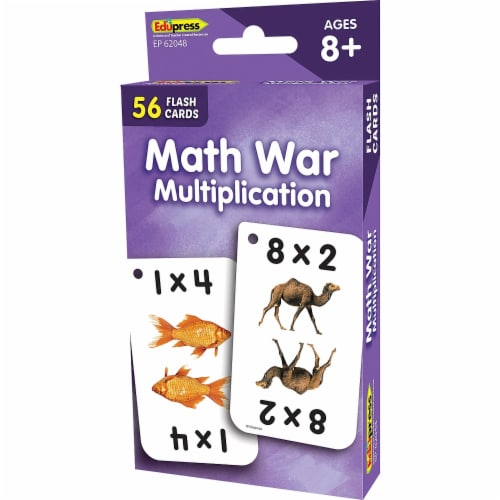 Teacher Created Resources EP-62048 Math War Multiplication Flash Cards Perspective: front
