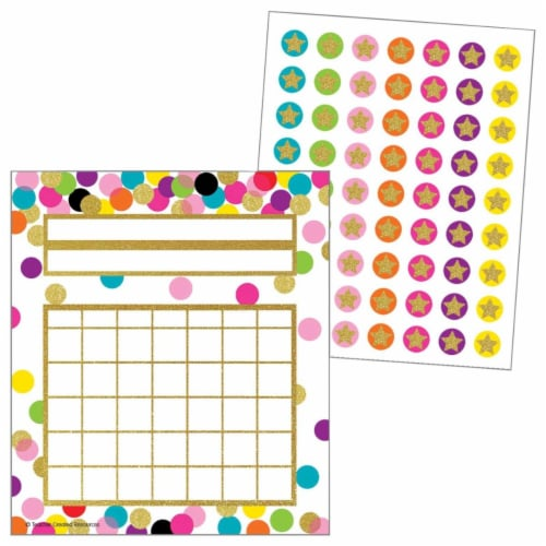 Teacher Created Resources 2021615 Incentive Charts & Stickers - Confetti Set Perspective: front