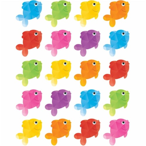 Colorful Fish Stickers, Pack of 120 Perspective: front