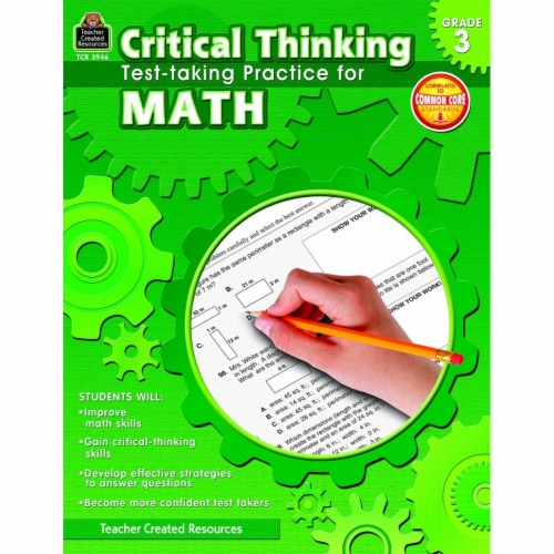 Teacher Created Resources 1498822 Book Critical Thinking Test Taking Practice Math Grade 3 Perspective: front