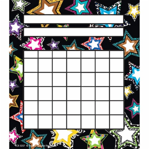 Fancy Stars Incentive Charts, Pack of 36 Perspective: front