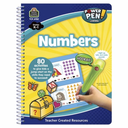 Teacher Created Resources 1567991 Power Pen Learning Book, Numbers - Grade k-1 Perspective: front
