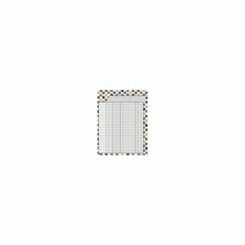 Colorful Paw Prints Incentive Chart Perspective: front
