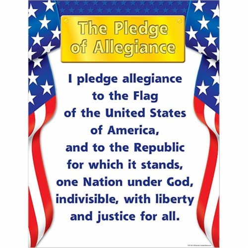 Pledge of Allegiance Chart Perspective: front