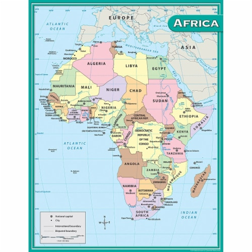 Africa Map Chart Perspective: front