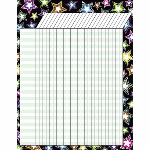Fancy Stars Incentive Chart Perspective: front