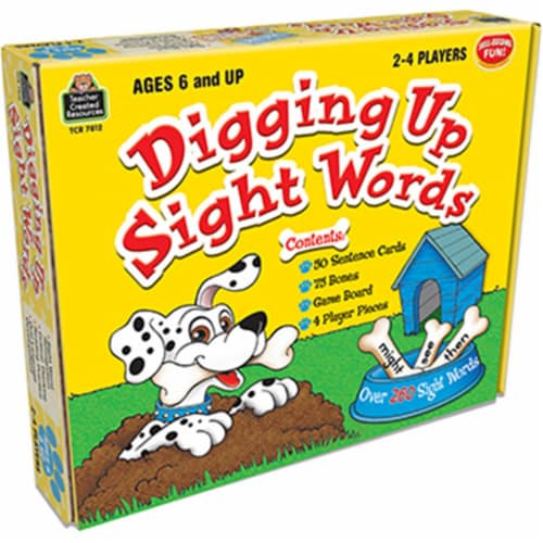 Teacher Created Resources TCR7812 Digging Up Sight Words Game Ages 6 & Up Perspective: front