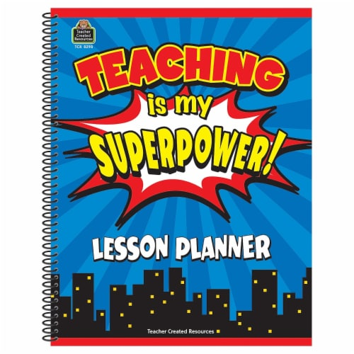 Teaching is My Superpower Lesson Planner Perspective: front