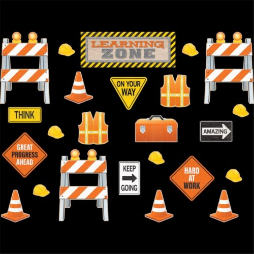 Teacher Created Resources TCR8743 Under Construction Learning Zone Bulletin Board Display Perspective: front