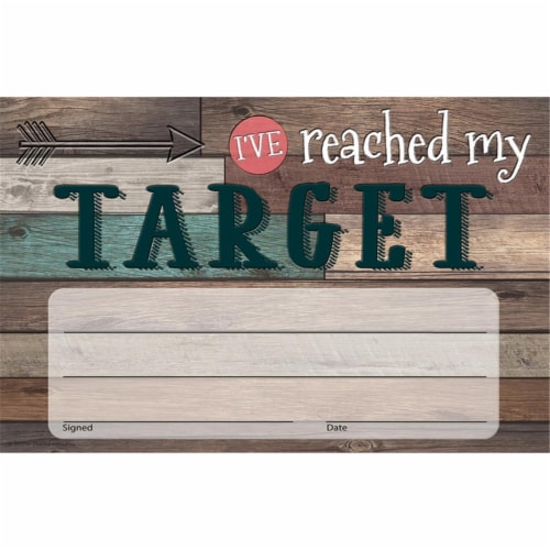 Home Sweet Classroom I've Reached My Target Awards, Pack of 25 Perspective: front