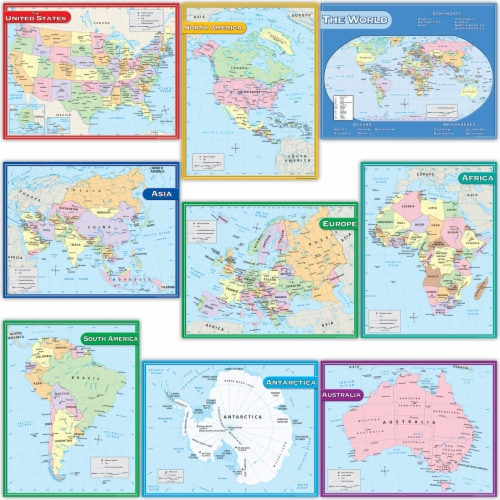 Teacher Created Resources Map Charts Set Perspective: front