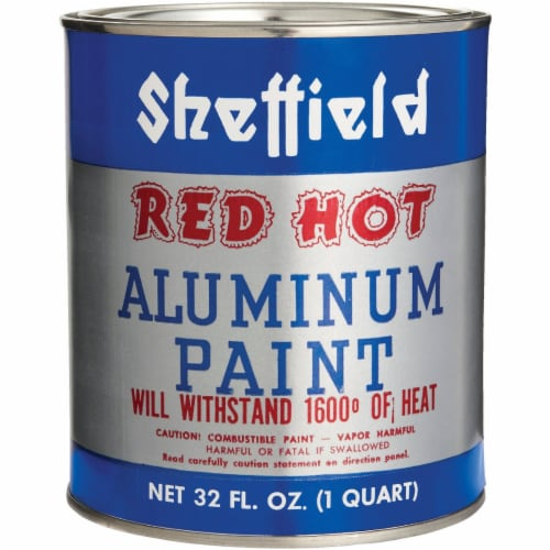 Sheffield  Red Hot  Silver  High Heat Paint  32 oz. - Case Of: 6; Perspective: front