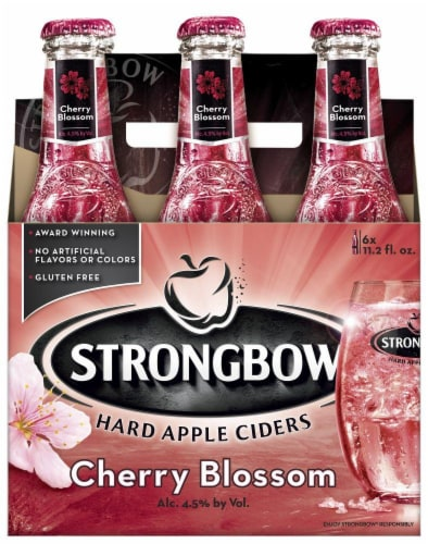 Strongbow Cherry Blossom Hard Apple Cider Perspective: front