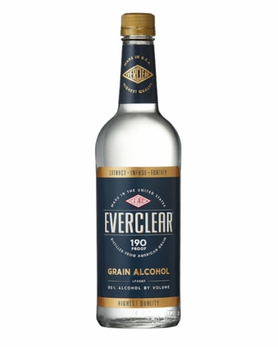 Everclear Grain Alcohol Perspective: front