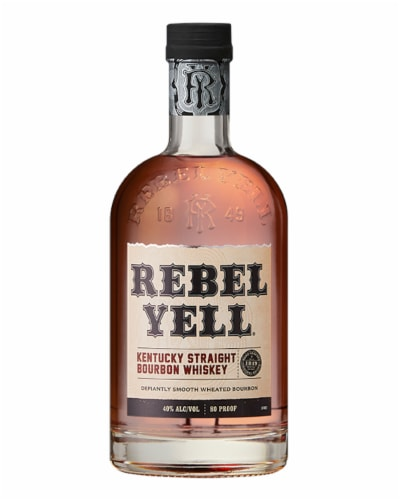 Rebel Yell Kentucky Straight Bourbon Whiskey Perspective: front