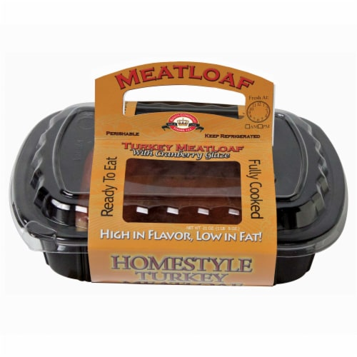 King's Command Foods Fully Cooked Turkey Meatloaf & Cranberry Sauce Perspective: front