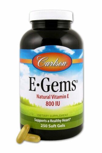 Carlson  E-Gems® Natural Vitamin E Perspective: front