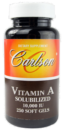 Carlson Vitamin A Solubilized Soft Gels Perspective: front