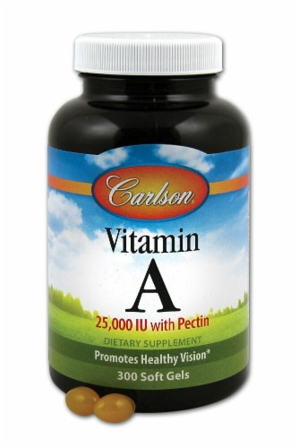 Carlson Vitamin A with Pectin Supplement Perspective: front