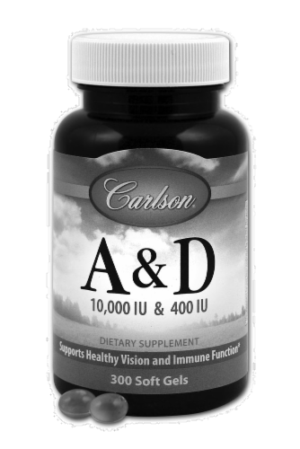 Carlson Vitamins A & D Soft Gels Perspective: front