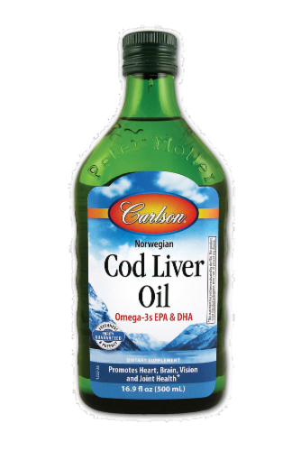 Carlson Norwegian Cod Liver Oil Perspective: front