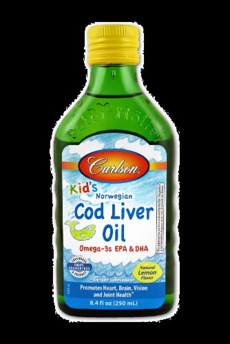 Carlson for Kids Lemon Cod Liver Oil Perspective: front