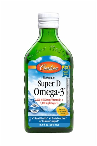 Carlson Norwegian Super D Omega-3 Dietary Supplement Liquid Perspective: front