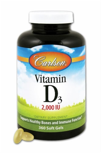 Carlson Vitamin D3 Supplement Perspective: front