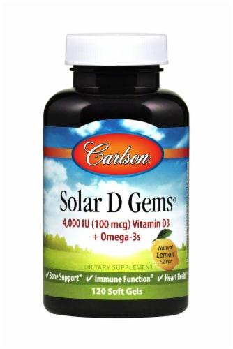 Carlson Solar D Gems Vitamin D3 Softgels 4000IU Perspective: front
