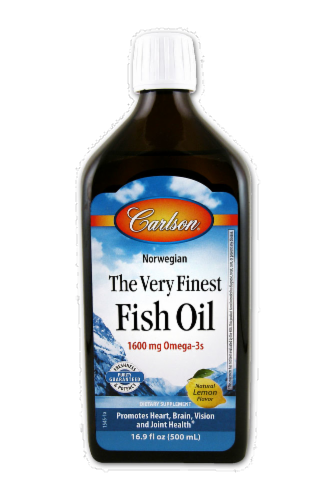 Carlson The Very Finest Lemon Fish Oil Perspective: front