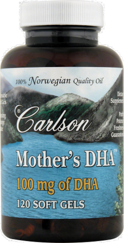 Carlson Mother's DHA 100mg Softgels Perspective: front