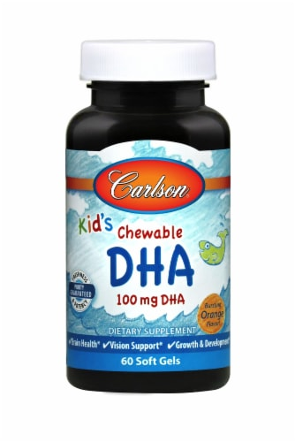 Carlson for Kids Chewable DHA Perspective: front
