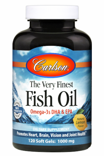Carlson Fish Oil Omega-3s DHA & EPA Perspective: front