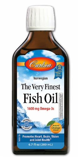 Carlson The Very Finest Orange Flavored Fish Oil Perspective: front